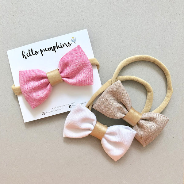 Dress Up Bow Headband - White