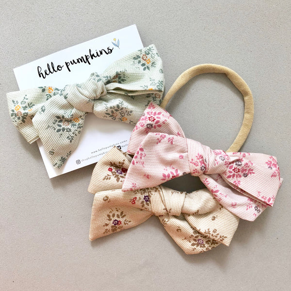 Yukata Bow Headband - Earth