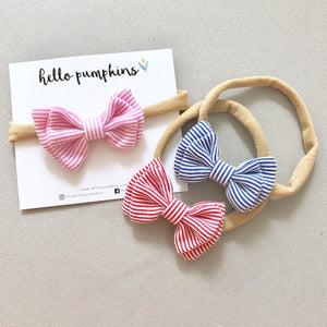 Mary Jane Bow Headband Set