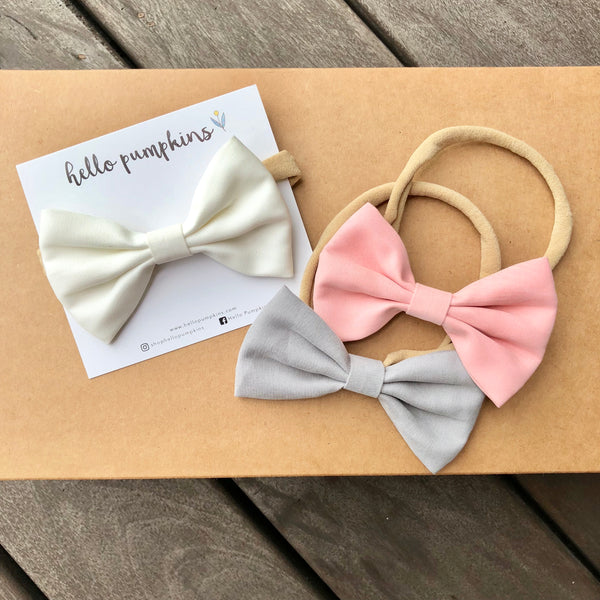 Classic Bow - Grey