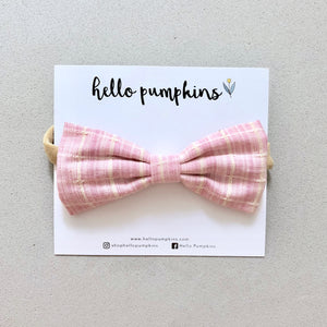 Preppy Bow Headband - Pink
