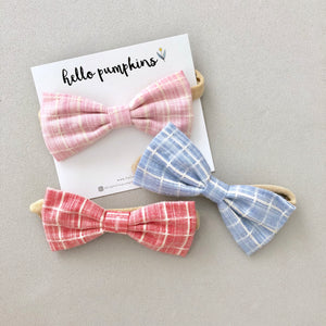 Preppy Bow Headband Set