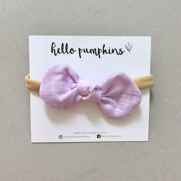 Little Mousey Bow Headband - Lilac
