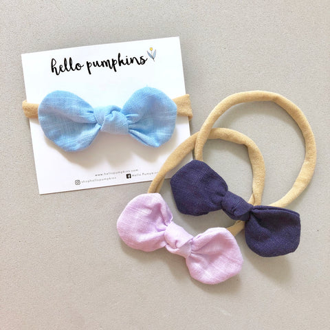 Little Mousey Bow Headband Set - Night