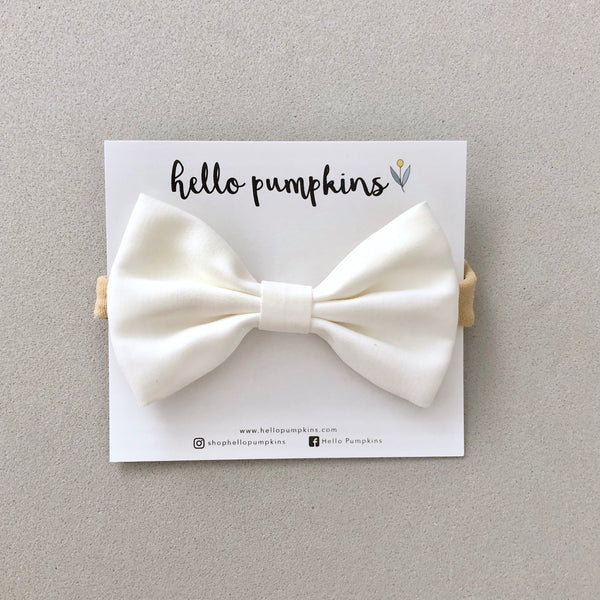 Classic Bow - White