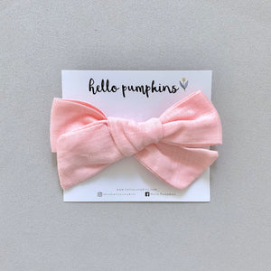 Fay Linen Bow - Pink
