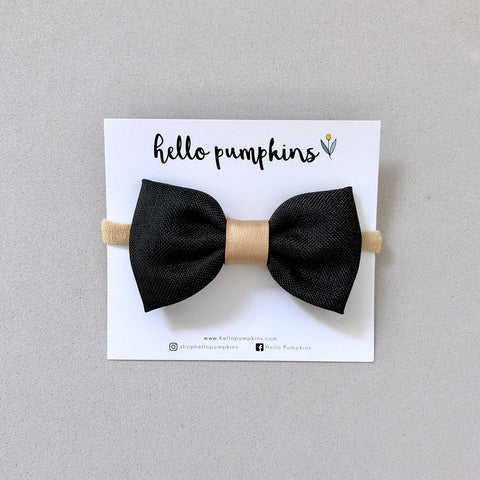 Dress Up Bow Headband - Black