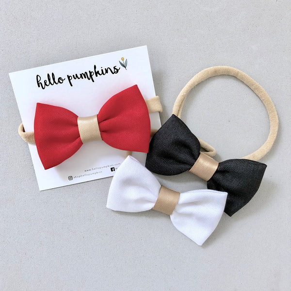 Dress Up Bow Headband - Red