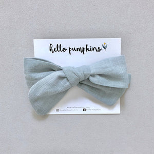 Fay Linen Bow - Sage