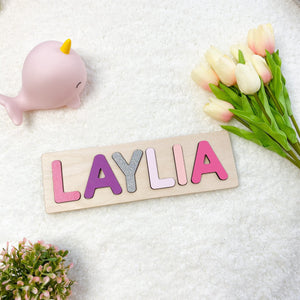 Baby Name Board in Purple Pink Colours