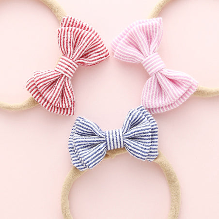 Mary Jane Bow Headband - Red