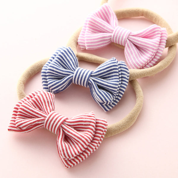 Mary Jane Bow Headband - Pink