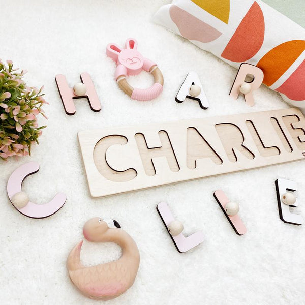 Baby Name Board in Sweet Colours
