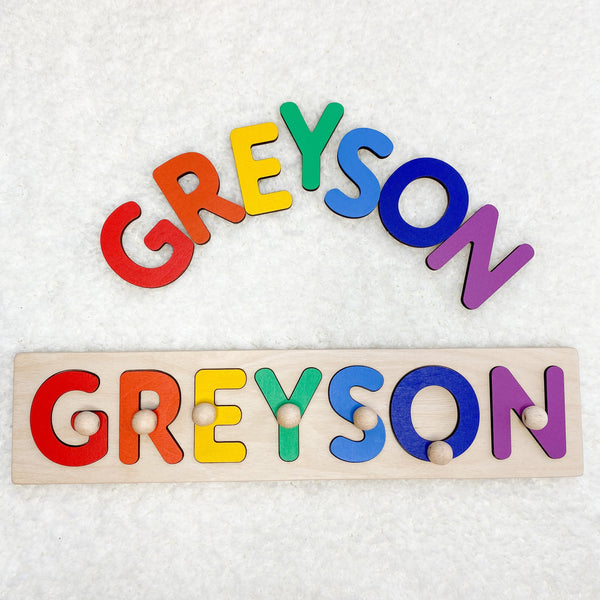 Baby Name Board in Bright Rainbow Colours