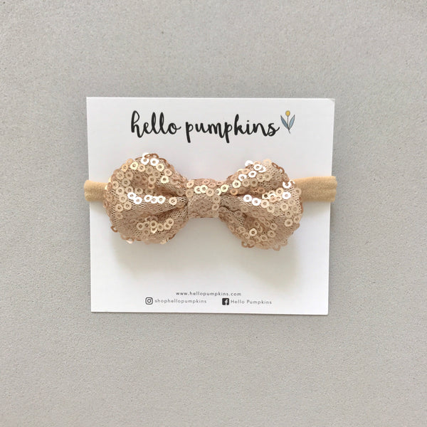 Mini Sequin Bow Headband Set - Party Night