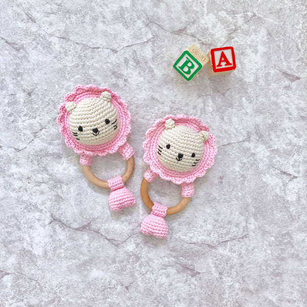 Baby Merlion Rattle - Pink