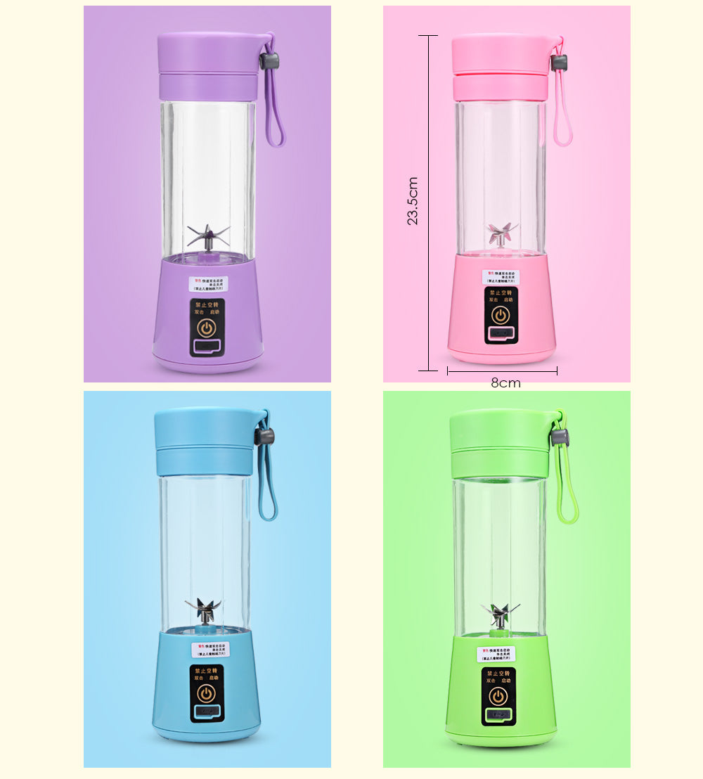 Portable Juicer Multifunctional Household Electric Juicer 4 Blades Portable Mini Charging Juice Cup Fruit Juice