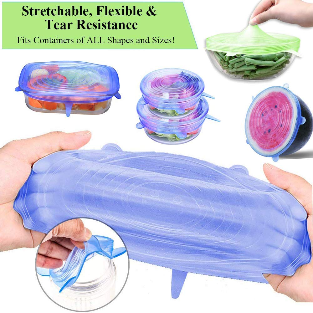 Silicone six-piece set of fresh cover stretch universal bowl cover refrigerator microwave sealed plastic wrap
