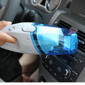 Car wet and dry dual-use car mini vacuum cleaner car small blue and white vacuum cleaner portable car with vacuum