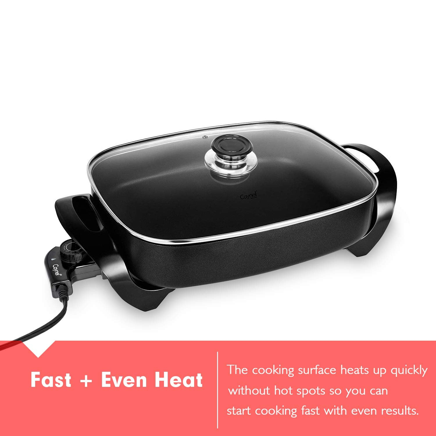 Multi-function electric hot pot square pot household electric wok electric baking pan non-stick electric skillet electric cooker