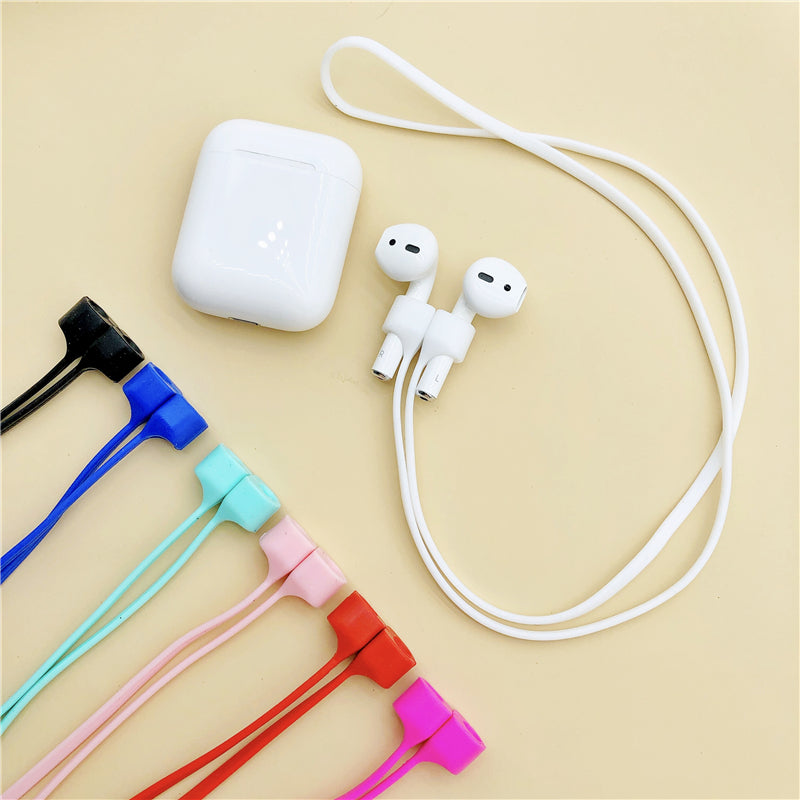Magnetic anti-lost rope apple airpods anti-lost rope with magnetic silicone lanyard earphone anti-lost line