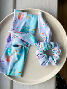 Patterned scrunchie and headband sets *NEW*
