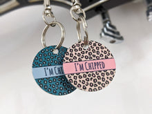 Load image into Gallery viewer, Walk in the wild Blue Leopard ID Tag