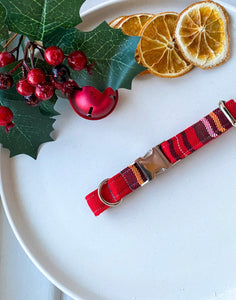Red Tartan Christmas Fabric Collar