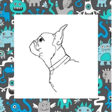 Load image into Gallery viewer, Monster Mash Fabric Collar