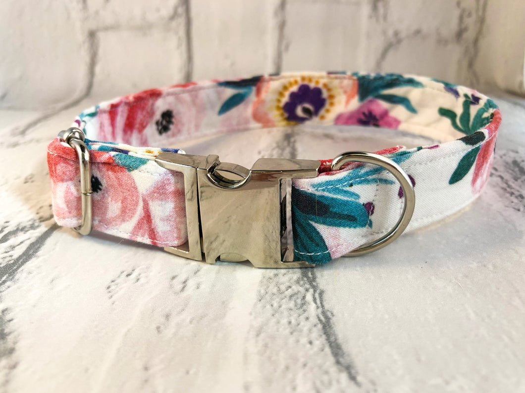 Watercolour Floral Fabric Collar