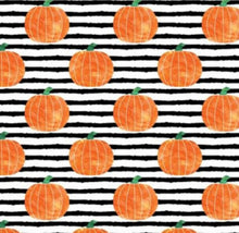 Load image into Gallery viewer, Pumpkin Stripe Bandana, Over the collar