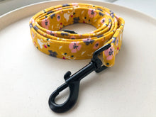 Load image into Gallery viewer, Mustard Ditsy Floral Fabric Lead