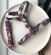Load image into Gallery viewer, Burgundy Wild at Heart Fabric Strap Harness