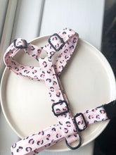 Load image into Gallery viewer, Walk in the wild Pink Leopard Fabric Strap Harness