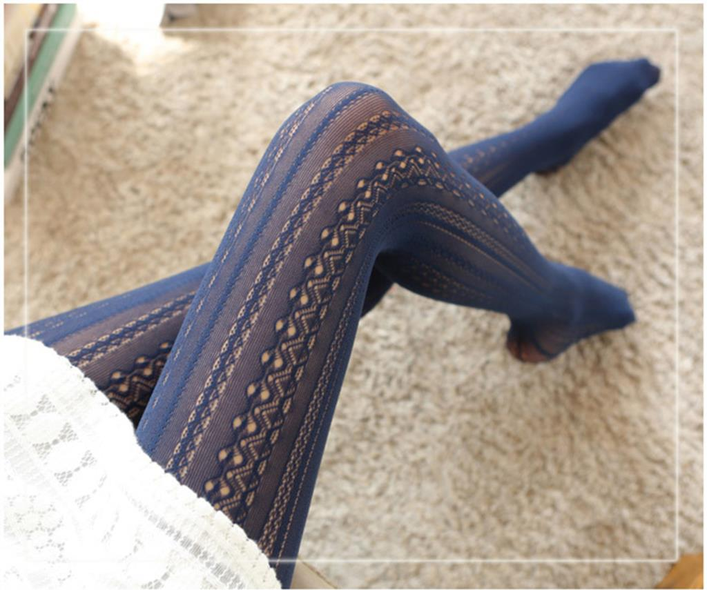 Fashion Hollow Mesh Lace Vertical Strips