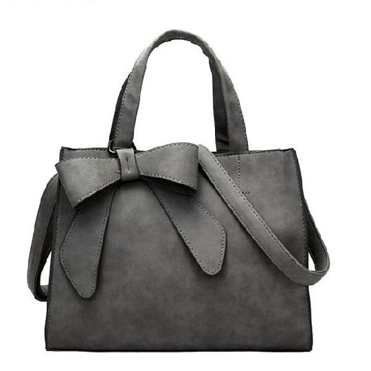 Leather Woman Bag-Grey Model