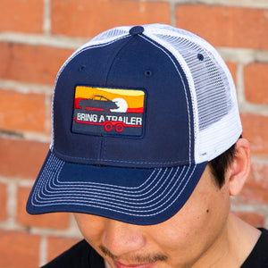 Navy Porsche Trucker Hat