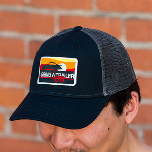 Black Porsche Trucker Hat
