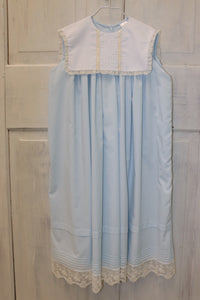 Lajenns Blue Dress with Square White Bib