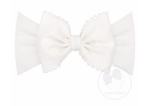 Wee Ones Large Moonstitch Jersey Bow