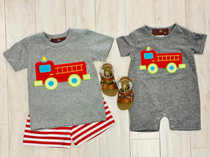 Millie Jay Firetruck Short Set
