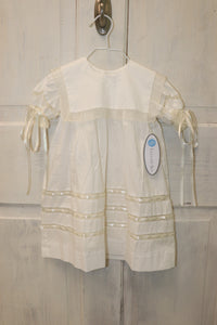 Lullaby Set White Dress with Square Bib