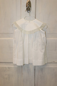 Lullaby Set White Dress with Yolk Lace Collar w/ Slip