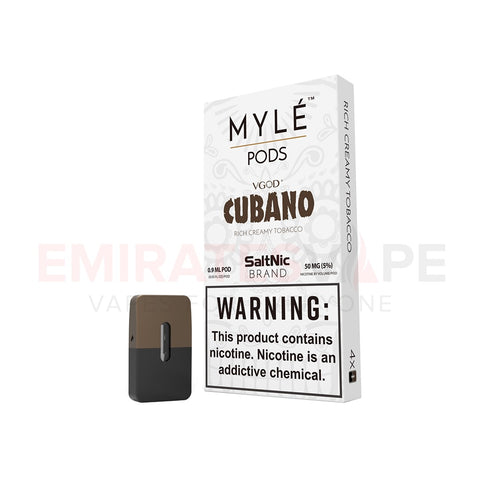 MYLE Pods Cubano Flavor - 10 packs - 40 Pods