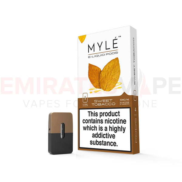 MYLE Replacement Flavor Pods - 4 Pods pack - Sweet Tobacco