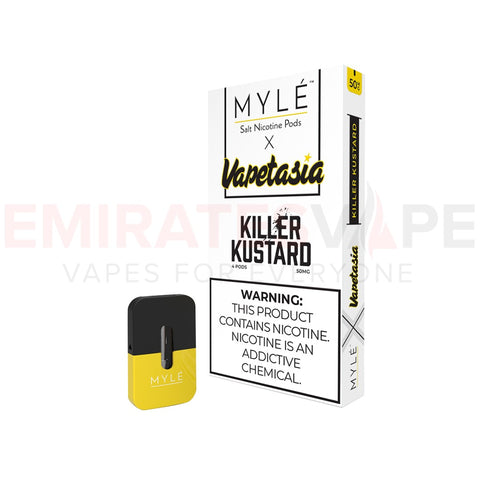 MYLE Pods Vapetasia Killer Kustard Vape - 10 packs - 40 Pods