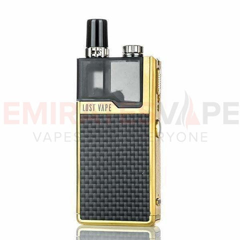 Lost Vape - Orion DNA Go – Gold Carbon Fiber - 40W AIO Pod System