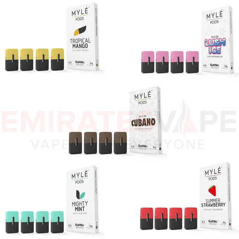 MYLE Pod Combo Pack Offer First Time Online 5 packs of 4 pods (5 flavour Stock)