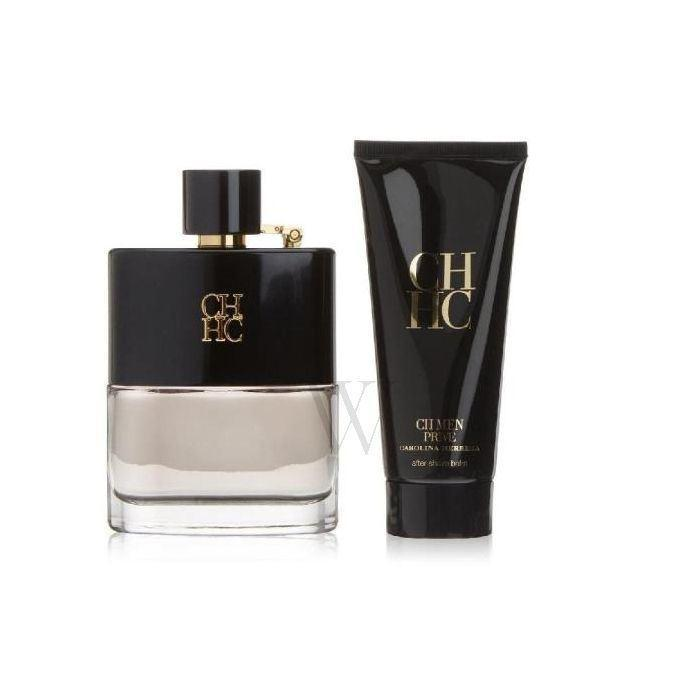Carolina Herrera CH Prive Eau De Toilette Set For Men 100ml+ After Shave Balm 100ml