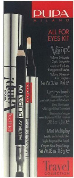 pupa milano all for eyes kit travel collection - O2morny.com